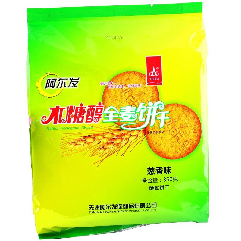 阿尔发木糖醇全麦饼干葱香味360g-饼干类图片