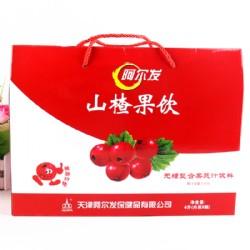 阿尔发山楂果饮无糖果蔬汁饮料4L礼盒装
