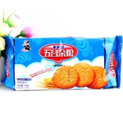 老布特木糖醇五谷杂粮粗纤维饼干170g
