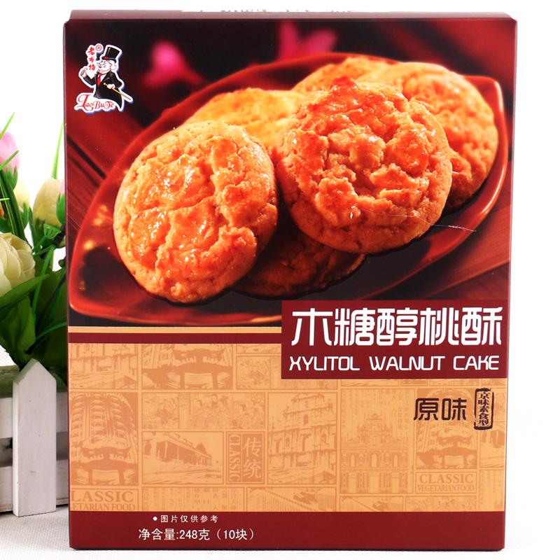 老布特木糖醇桃酥王原味248g-饼干类图片