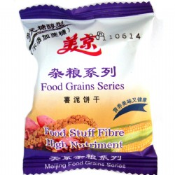 美京多元糖醇杂粮薯泥饼干散装250g