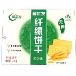 阿尔发纤缘饼干葱香味420g